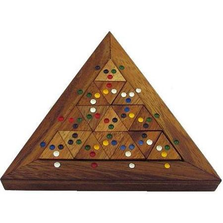Color Match Triangle Wooden Puzzle Brain Teaser
