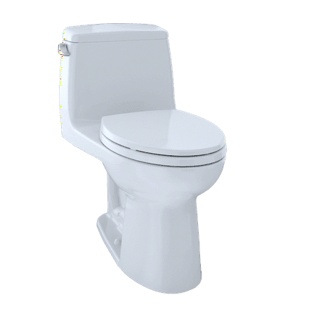 TOTO® Eco UltraMax® One-Piece Elongated 1.28 GPF ADA Compliant Toilet with CeFiONtect™, Cotton White - MS854114ELG#01 ()