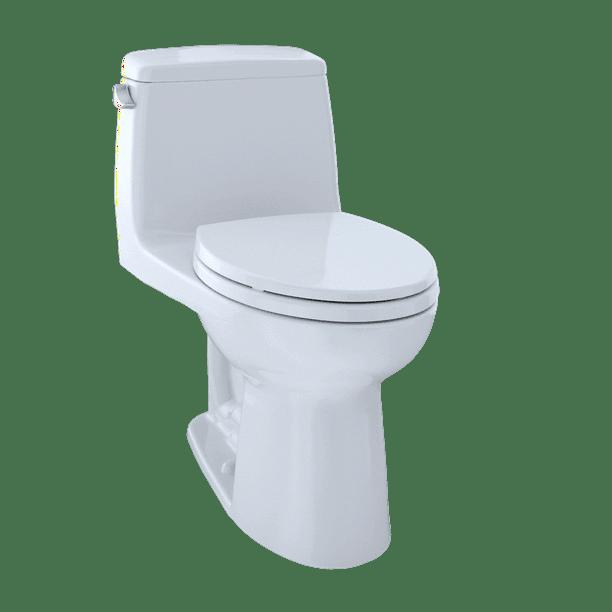 Toto Eco Ultramax One Piece Elongated 1 28 Gpf Ada Compliant Toilet With Cefiontect Cotton White Ms854114elg 01 Walmart Com Walmart Com