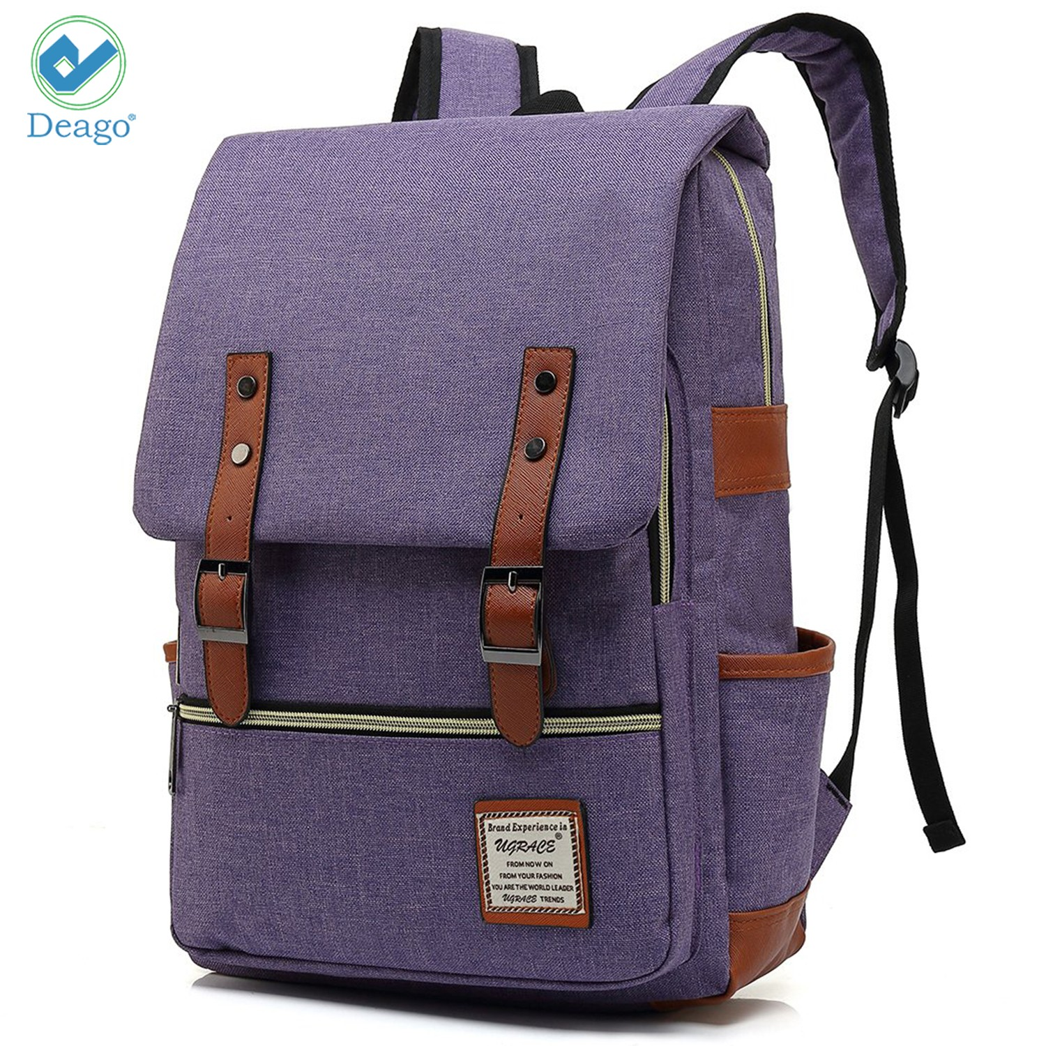 ZZKKO Music Note Butterfly Vintage Retro Backpacks College Book Laptop Bag Camping Hiking Travel Daypack