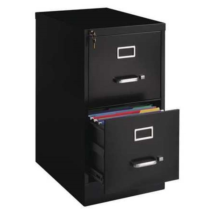Hirsh 22-inch Deep 2-Drawer, Letter-Size Vertical File Cabinet, Black