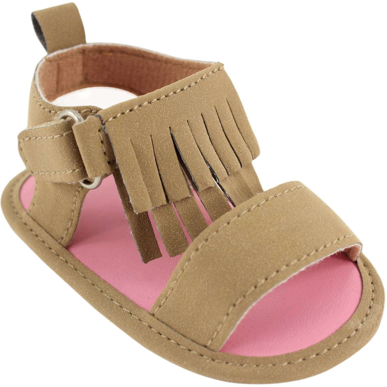 Luvable Friends Newborn Baby Girls Fringe Sandals