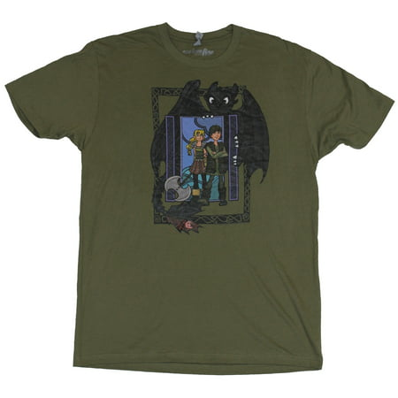 How to Train Your Dragon Mens T-Shirt - Astrid & Hiccup in Toothless Box Image