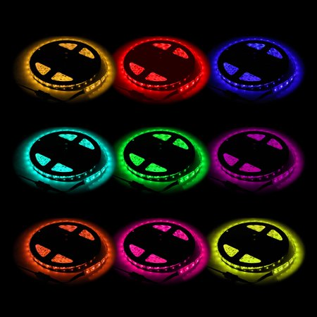 Colored Led Light Strips Awesome GPCT [RGB]nbspColor Changing LED Light Strip 60M 60 LEDnbsp