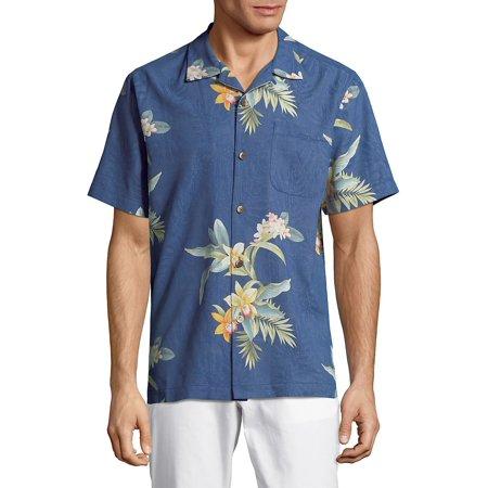 9aebea24b3c8cd Tommy Bahama - Open Water Blooms Silk Shirt - Walmart.com