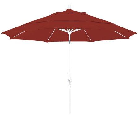- Eclipse Collection 11 Fiberglass Market Umbrella Collar Tilt DV Matted White/Olefin/Terracotta