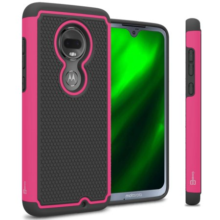 CoverON Motorola Moto G7 / Moto G7 Plus Case, HexaGuard Series Hard Phone  Cover