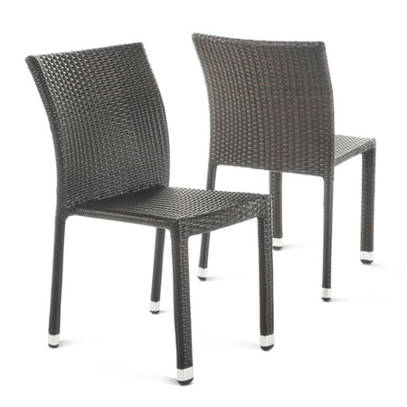 Dorside Outdoor Wicker Armless Stack Chairs with Aluminum ...