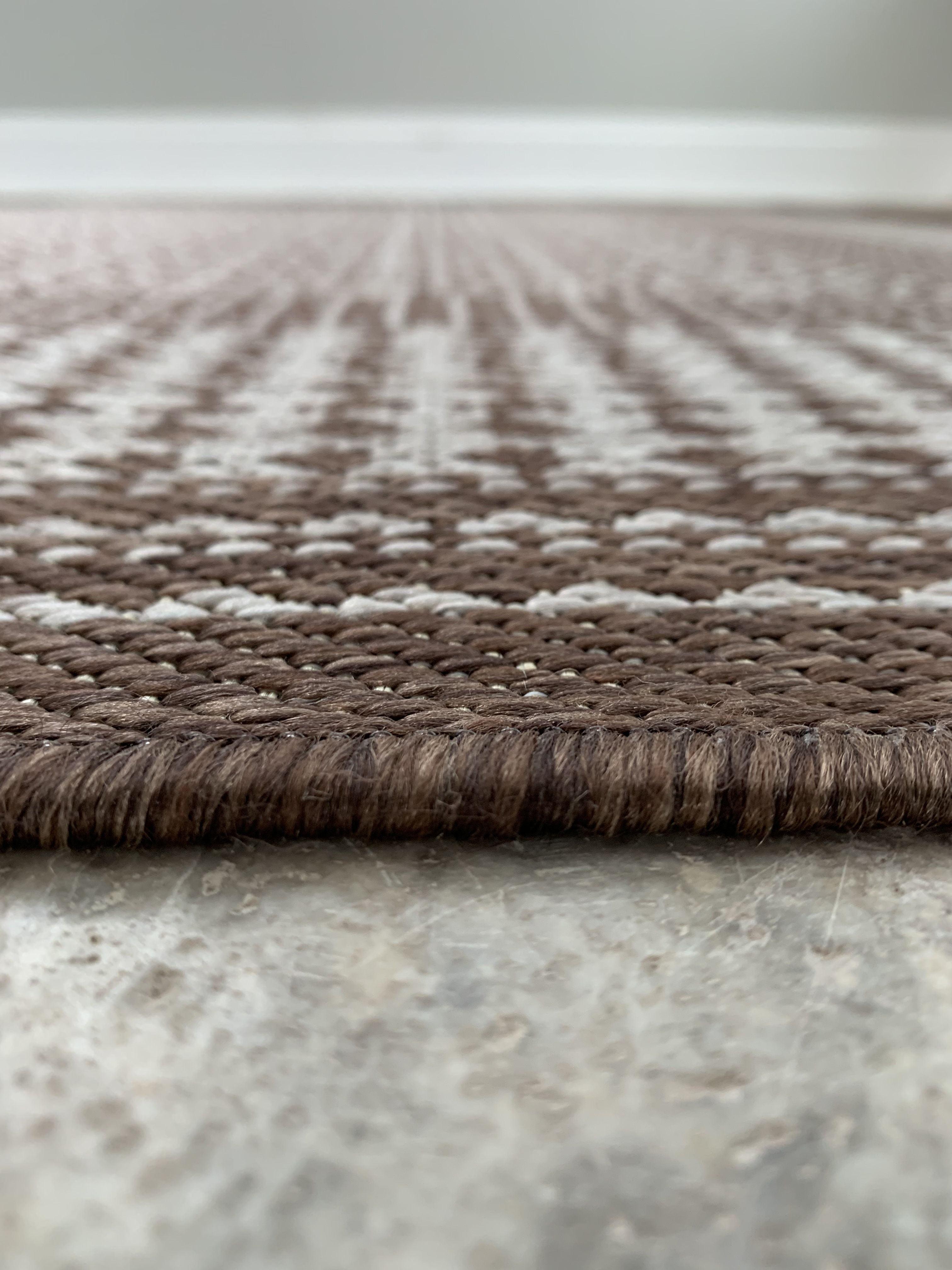 Benissimo Indoor Outdoor Sisal Area Rug for Garage Garden KitchenBeige
