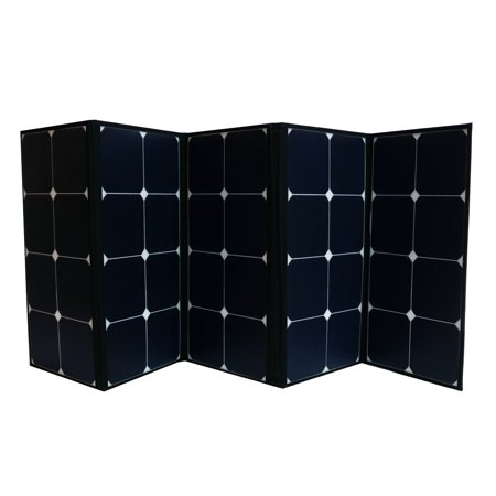 120 Watt Portable Foldable Solar Panel with Built-in Carrying Case