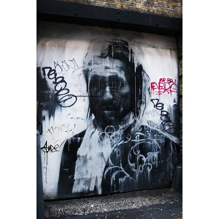 Canvas Print Graffiti Urban City London Cool Spray Alley Stretched Canvas 32 x 24