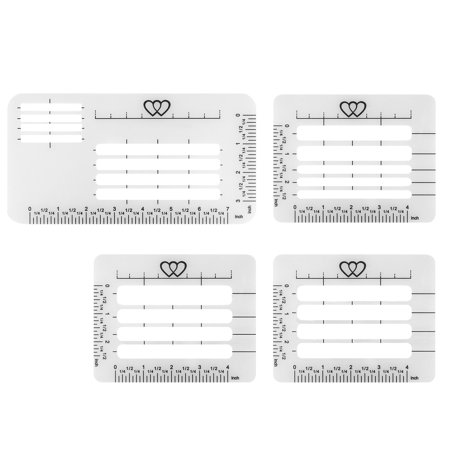 TSV 4 Style Envelope Address Stencil Template Plastic for Wedding Envelop Sewing Thanks You (Print Envelope Template)