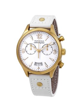 Movado Heritage Chronograph White Dial Ladies Watch 3650026