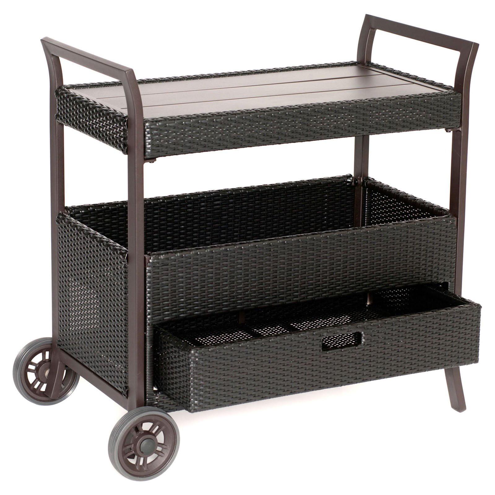 Hanover Outdoor Outdoor Bar Cart   Walmart.com