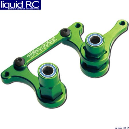 steering bellcranks, drag link (green-anodized 6061-t6 aluminum)/ 5x8mm ball bearings (4)/ hardware (assembled)