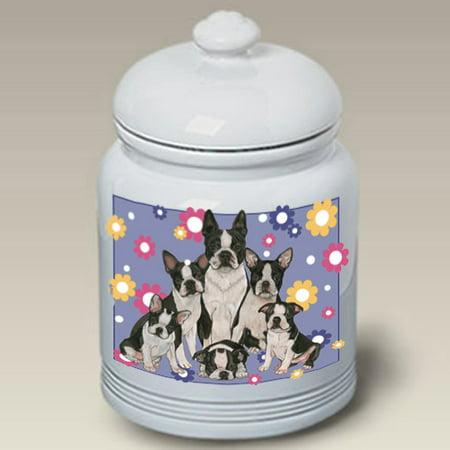 Boston Terriers - Best of Breed Dog Treat Jar