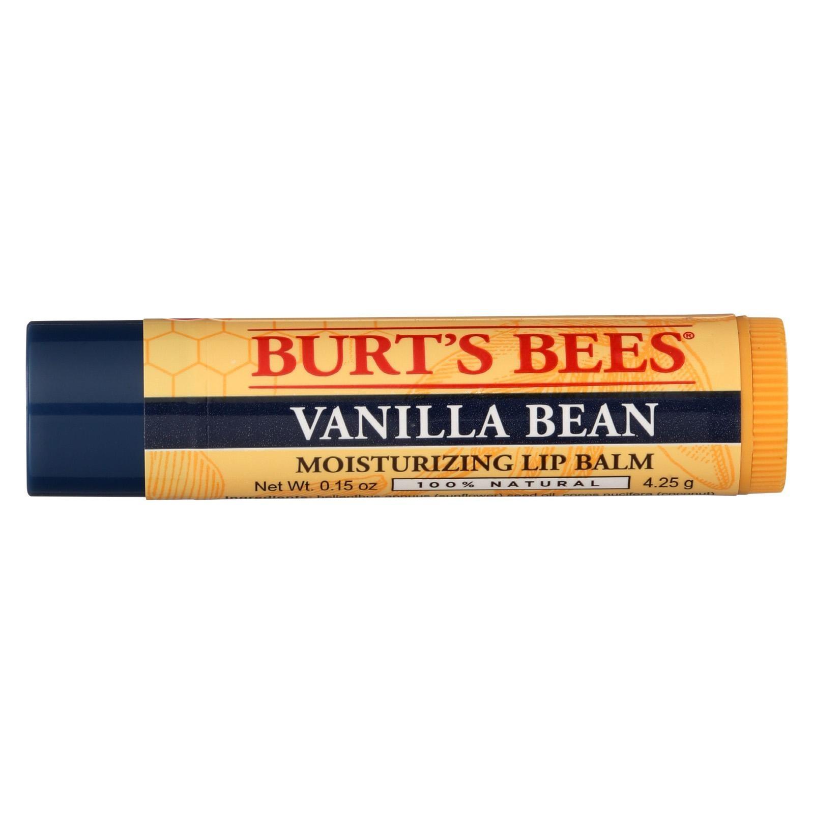 Burts Bees - Lip Balm - Vanilla Bean - Pack of 12 - 1 Count - image 1 de 1