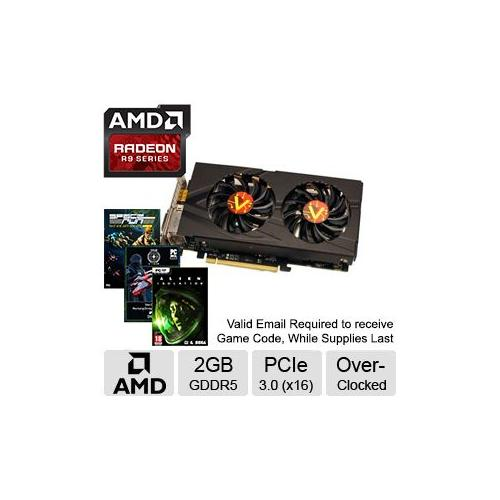 VisionTek Radeon R9 270X Video Card - 2GB GDDR5, PCI Express 3.0 (x16), Overclocked - 900651 - Includes Lifetime Warrant