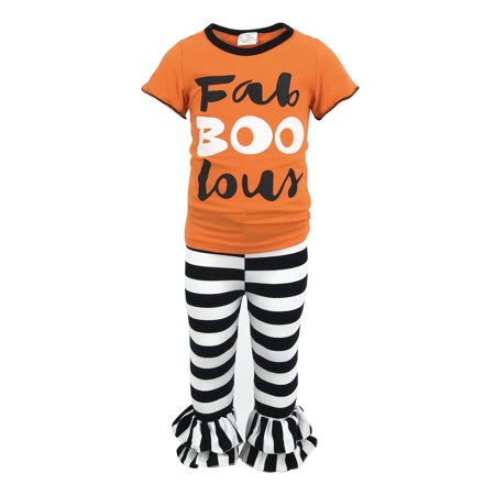 halloween unique baby girls fab boo lous outfit with. Black Bedroom Furniture Sets. Home Design Ideas