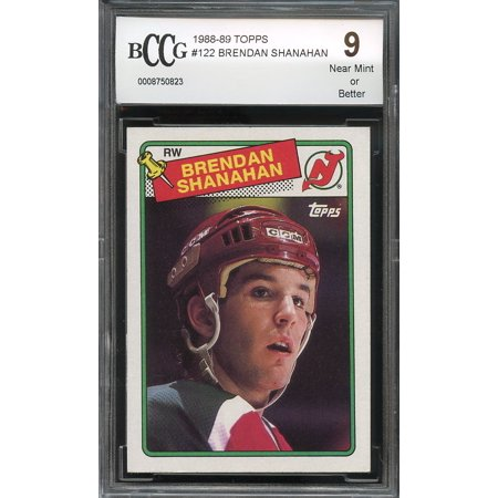 1988 89 Topps  122 Brendan Shanahan New Jersey Devils Rookie Card Bgs Bccg 9