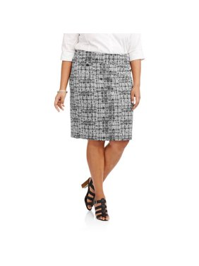 53304a4db26 Product Image Lifestyle Attitude Women s Plus Printed Pencil Skirt