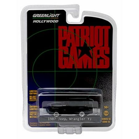 Greenlight 1:64 Hollywood Series 13 Patriot Games 1992 1987 Jeep Wrangler Yoji Diecast
