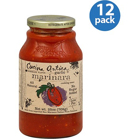 Cucina Antica Garlic Marinara - Cucina Antica Garlic Marinara Cooking Sauce, 25 oz, (Pack of 12)