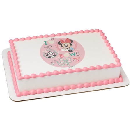 "Disney Baby Baby Minnie 2"" Round Cupcake Sheet Image Cake Topper Edible Birthday Party"