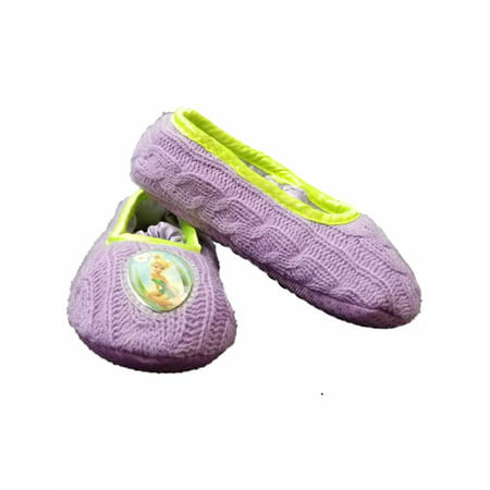 Disney Fairies Tinker Bell Purple Toddler Girls Slippers Loafer House Shoes - Fairies Shoes