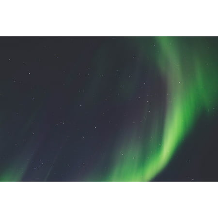 Framed Art For Your Wall Space Green Light Galaxies Atmosphere Stars 10x13 Frame