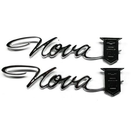 Trim Parts 3030 Quarter Panel Emblems for 1965 Nova/Chevy II, Pair