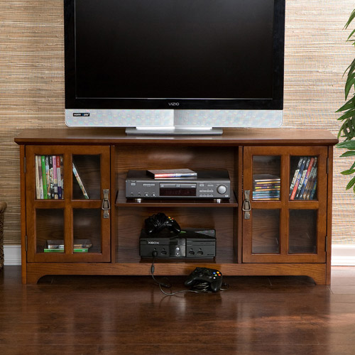 Bearden Oak Media Stand, for TVs up to 50""
