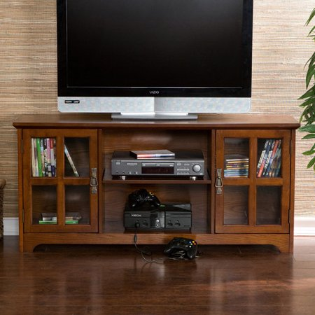 Bearden Oak Media Stand, for TVs up to 50″