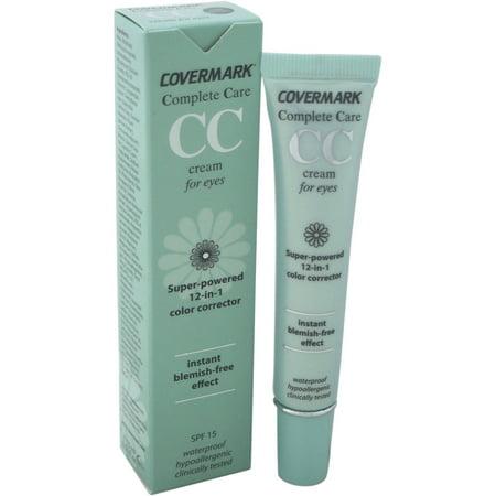 Covermark pour les femmes Complete Care crème pour les yeux CC SPF 15 étanche doux Brown, 0,51 oz