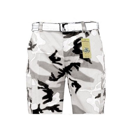 a089c302aa Genx - Mens Guys Big N Tall BTL Camouflage Cotton Twill Belted Camo Cargo  Shorts P212A-38-White Camo - Walmart.com