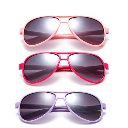 """Newbee Fashion - """"Aviator"""" Kids Sunglasses Girls Boys Plastic Aviator Fashion Sunglasses UV Protection Comfortable for All Ages"""