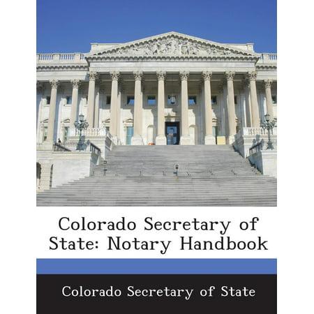 Colorado Secretary Of State   Notary Handbook