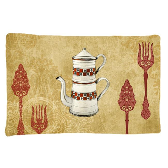 Carolines Treasures SB3088PILLOWCASE Teapot Welcome Moisture Wicking Fabric Standard Pillowcase