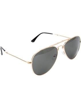 Gold - Military GI Style Folding Pilots Aviator Sunglasses with Case -  Smoke Lenses 3237f215887