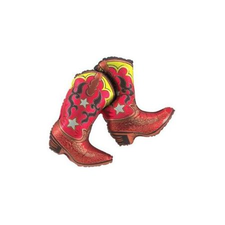Rodeo Cowboy Party Giant 36 inch Cowboy Boots Mylar Balloon. - Cowboy Parties