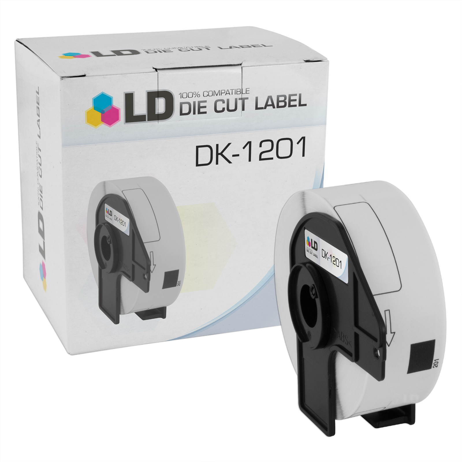 29 mm x 90.3mm 1.1 in x 3.5 in 2PK Compatible DK-1201 Address Labels