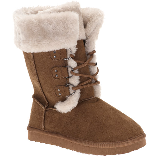 Girls' Sydney Faux-Fur Winter Snow Boots