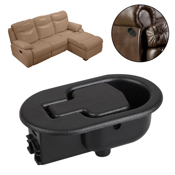 Recliner Replacement Parts TSV Replacement Recliner Handle Chair Sofa Couch Release Replacement Handle Black Metal Pull Recliner Handle