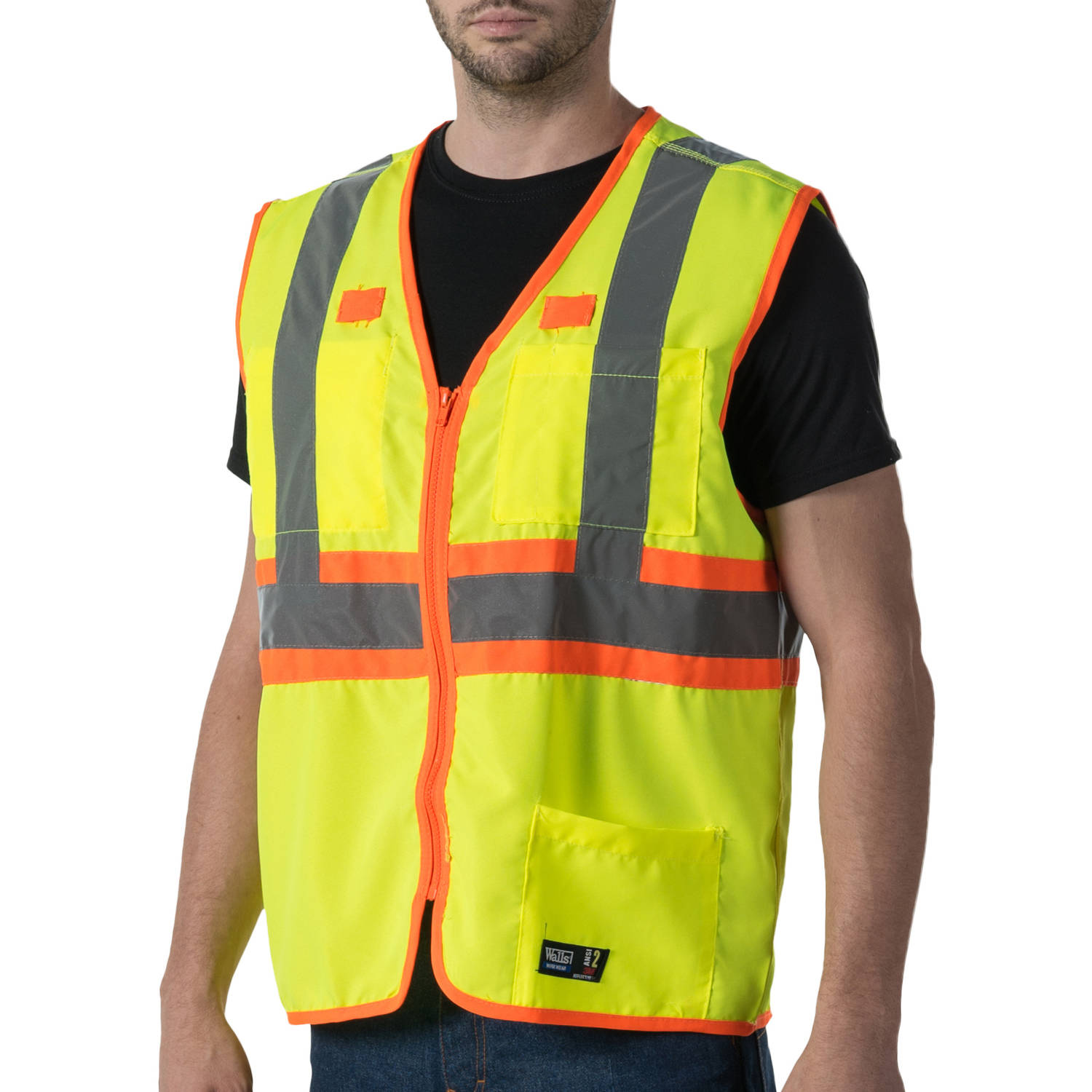 Big Men's Full ANSI II High Visibility Safety Vest, 2XL