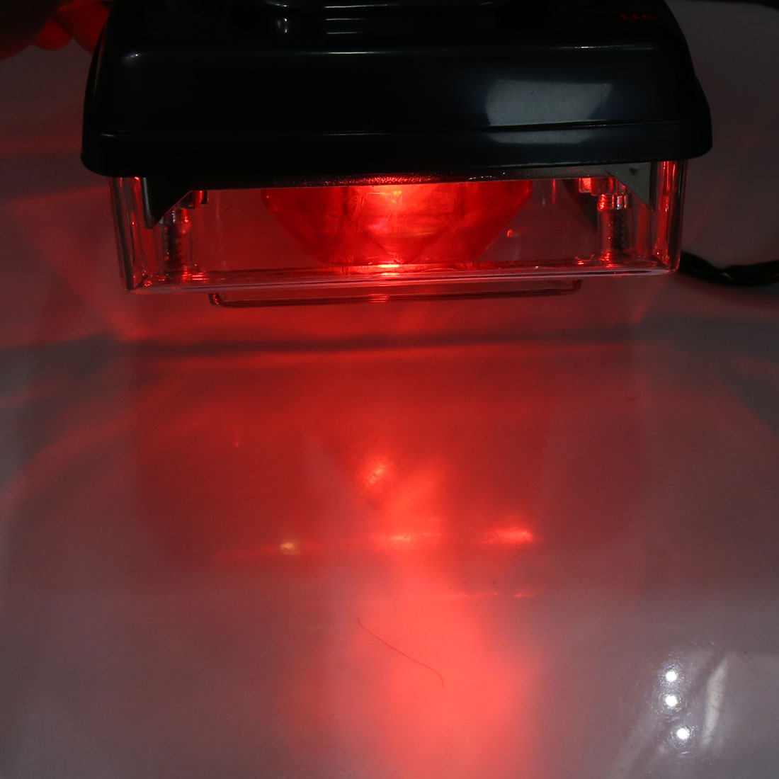 DC 12V Plastic Shell Red License Plate Lamp Motorcycle Tail Light for CG125 - image 1 of 4