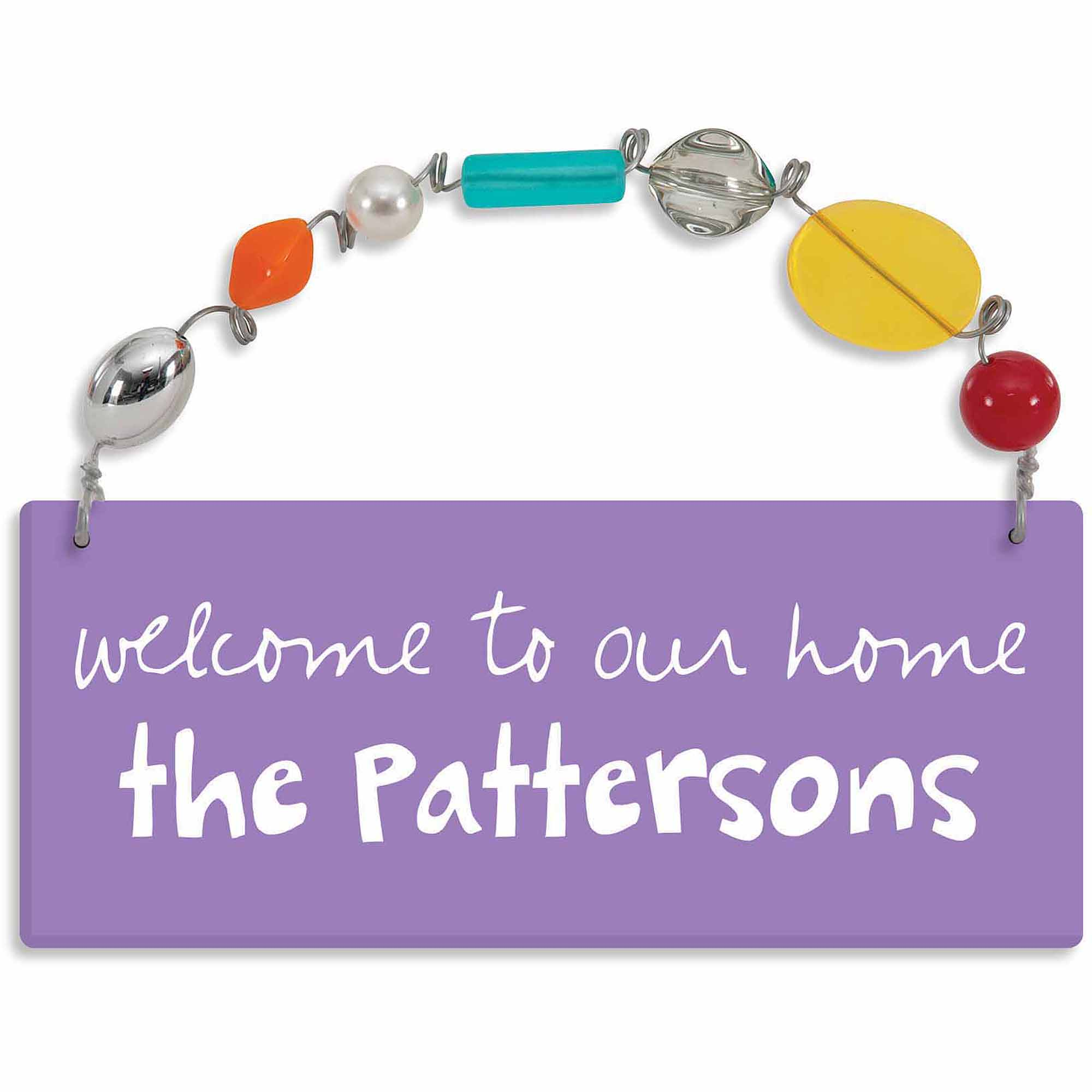 Personalized Sandra Magsamen Welcome To Our Home Wall Plaque