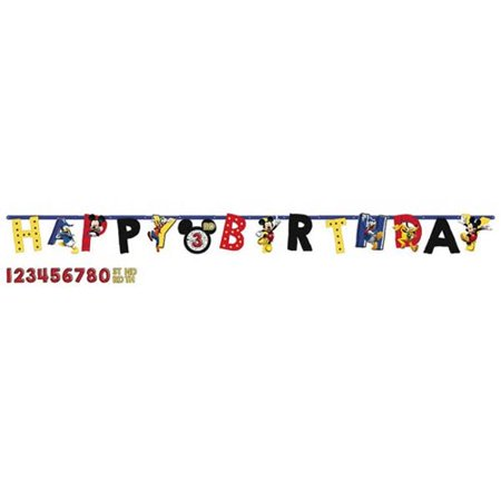 Mickey Mouse 'On the Go' Jumbo Letter Banner Kit - Mickey Mouse Happy Birthday Banner
