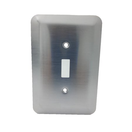 Leviton Satin Chrome Switch Cover Wallplate Switchplate 89301-SSS