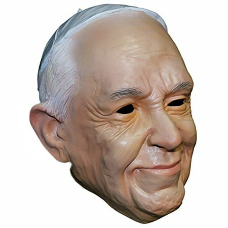 Pope Francis Catholic Pope Halloween Face Mask - By Off the Wall Toys](Halloween Catholic)