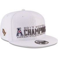 UCF Knights New Era 2017 AAC Football Conference Champions Locker Room Snapback Adjustable Hat - White - OSFA